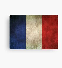 Old and Worn Distressed Vintage Flag of France Canvas Print