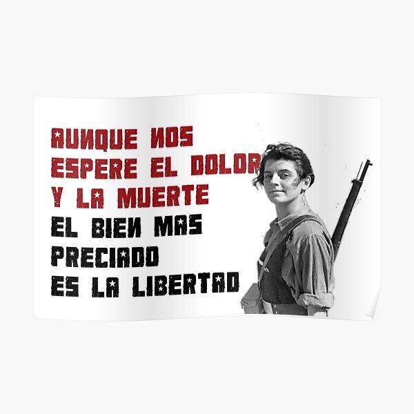 Miliciana anarquista e himno de la CNT. Póster