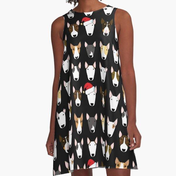 Santa Multibull Pattern A-Line Dress