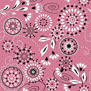 Seamless abstract pattern ornament geometric stylish background by fuzzyfox