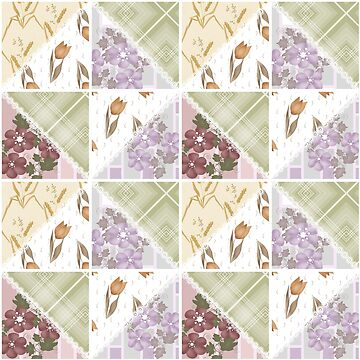 Seamless abstract pattern ornament geometric patchwork background by fuzzyfox