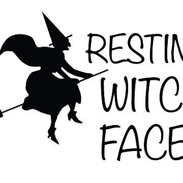 Resting Witch Face Funny Halloween Costume Fancy Dress Party by collection-life