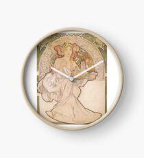 Alphonse Mucha Art, Famous European, Art Posters Clock