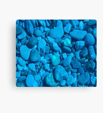 Blue River Rock Canvas Print