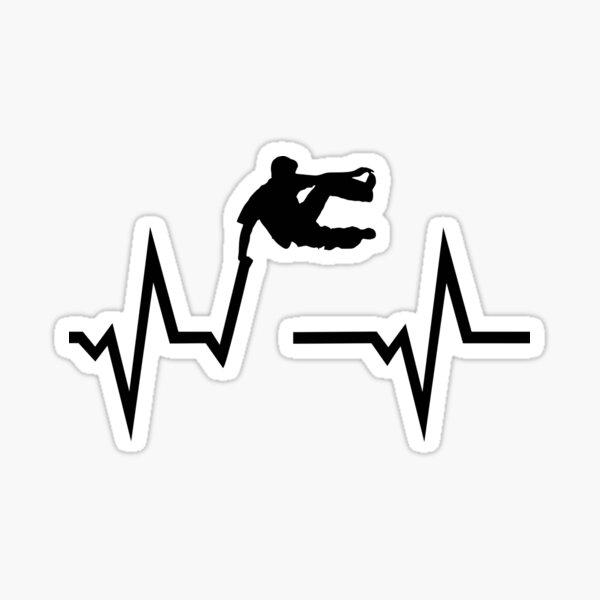 Parkour Freerunning & ECG Heartbeat Sticker