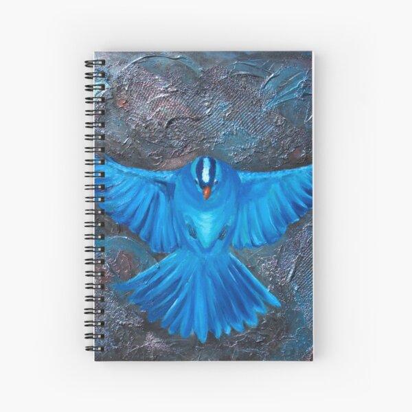 Blue Bird Joy Spiral Notebook