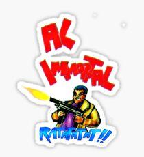 Al Immortal Machine Gun Sticker