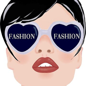fashion girl glasses by eligart