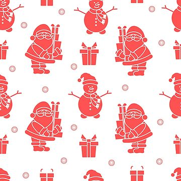 Christmas, New Year 2019 seamless pattern. by aquamarine-p