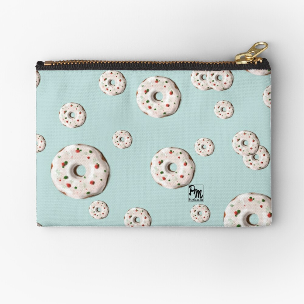 Christmas Donuts Zipper Pouch