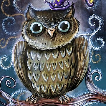 Magical owl illustration by Extreme-Fantasy