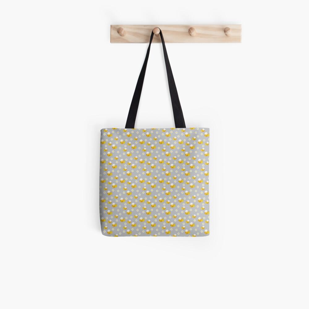 Bees and daisies Tote Bag
