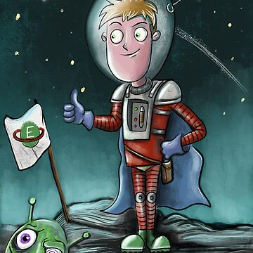 Space man and alien scene by Extreme-Fantasy