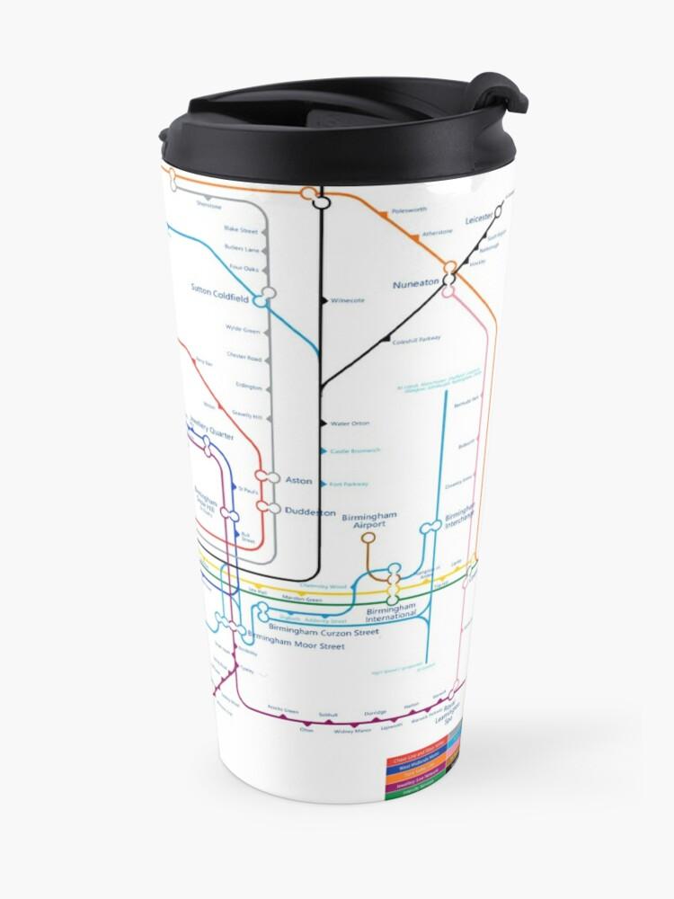 Alternate view of West Midlands Tube Map (centred on Wolverhampton) Travel Mug