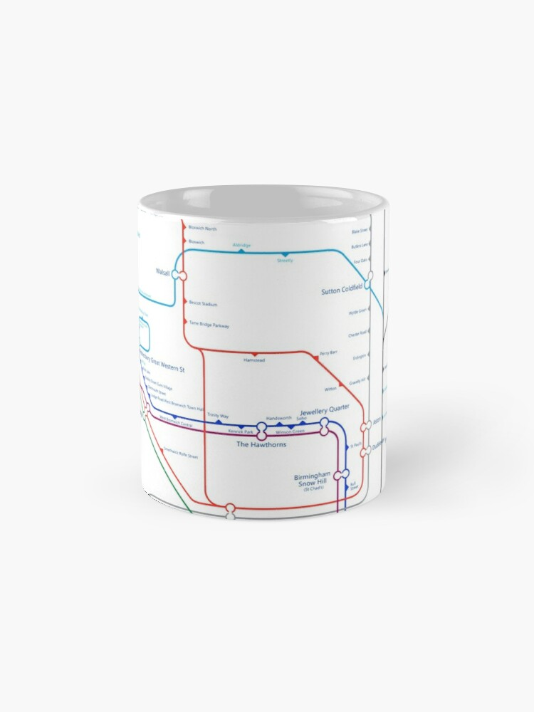 Alternate view of West Midlands Tube Map (centred on Wolverhampton) Classic Mug