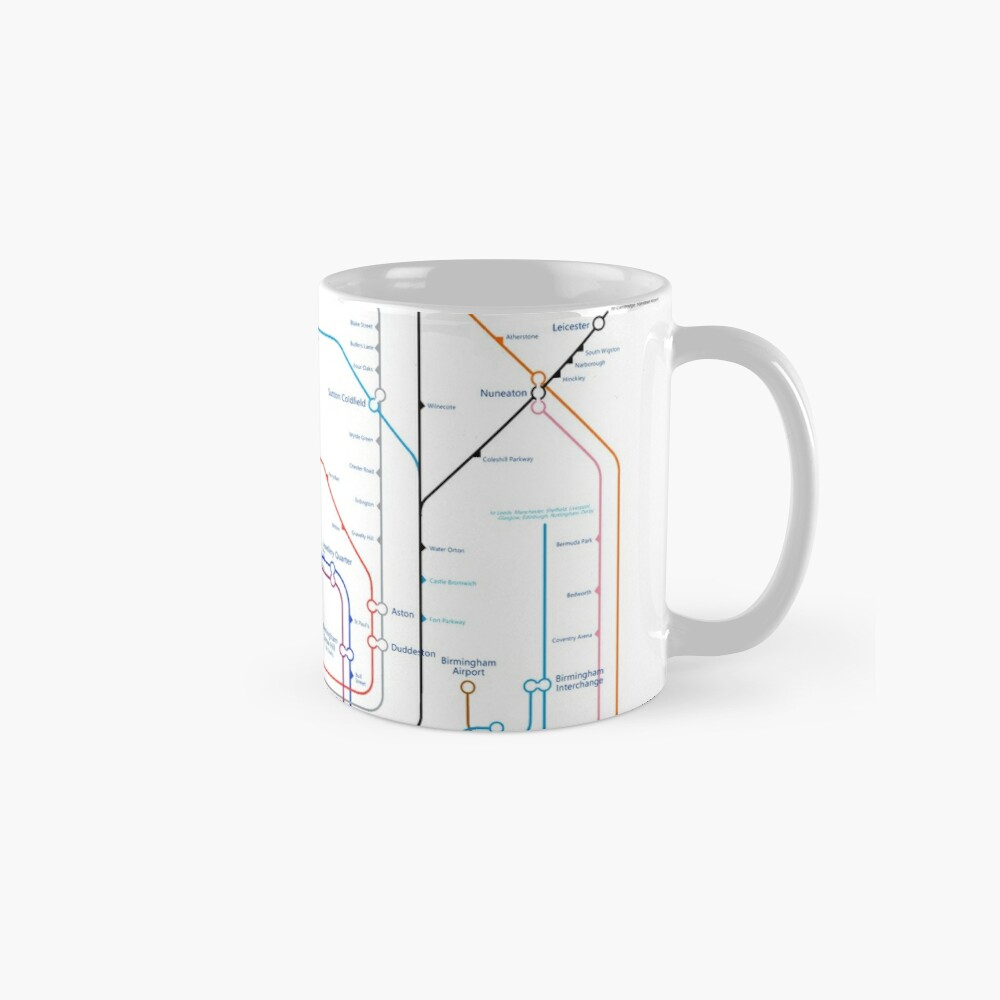 West Midlands Tube Map (centred on Wolverhampton) Classic Mug