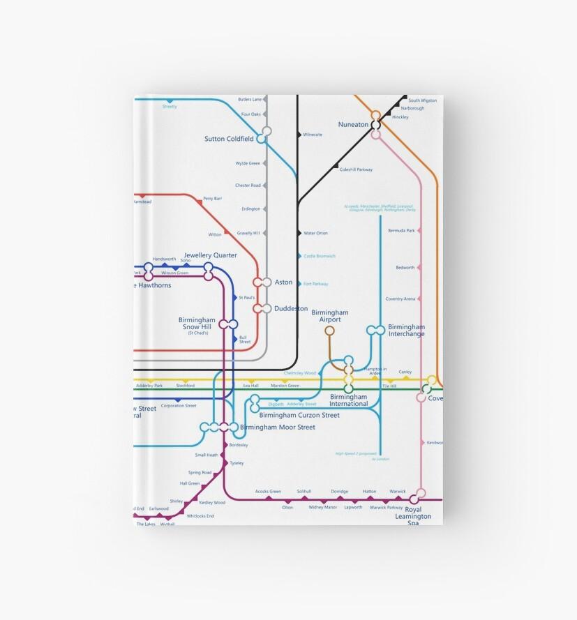 West Midlands Tube Map (centred on Wolverhampton) by danbadgeruk
