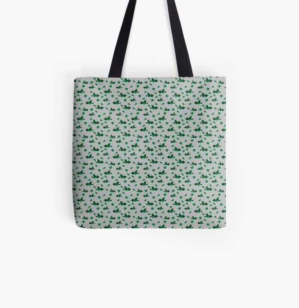 Birds and leafs All Over Print Tote Bag