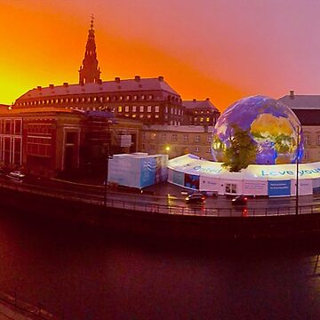 Sunrise over the Houses of Parliament and Climate EXPO in Copenhagen, Denmark by BrunoBeach