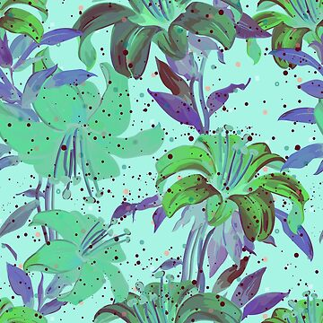 Beautiful Tropical Green Floral Print by andreirose