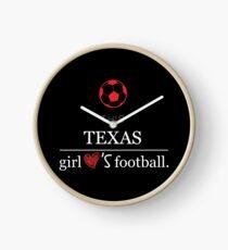 This Texas Girl Loves Football T-shirt Clock
