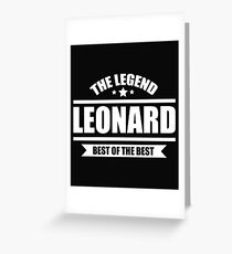 Leonard Greeting Card