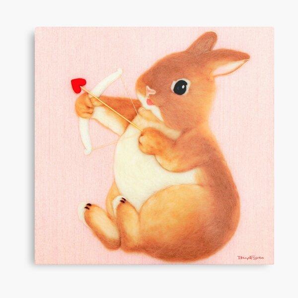 cupid bunny (2014) Rabbit / Bunny Art Metal Print