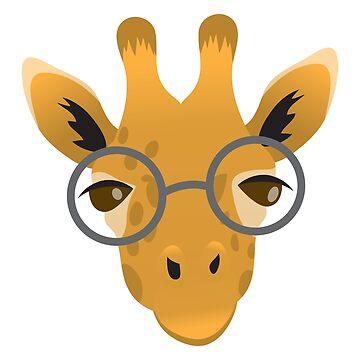 Giraffe in glasses by jazzydevil