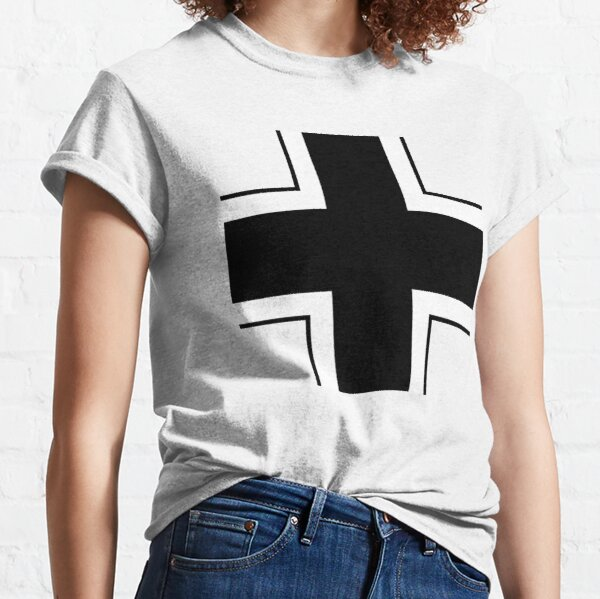CROSS. Balkenkreuz, Insignia of the German Armed Forces in WWII. Classic T-Shirt
