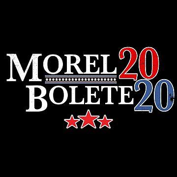 Funny Mushroom Hunter Hoodie Election 2020 Morel Bolete by rainydaysstudio