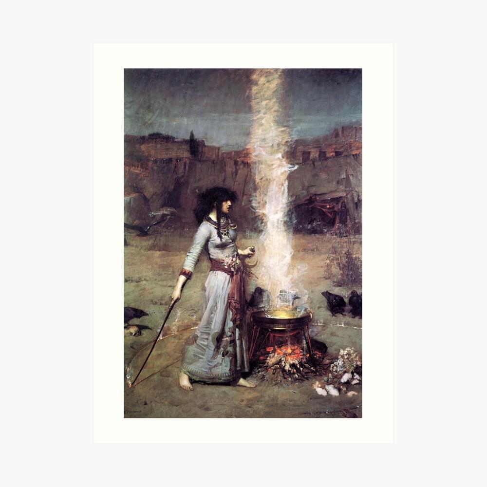The Magic Circle, Witchcraft,  John William Waterhouse Art Print
