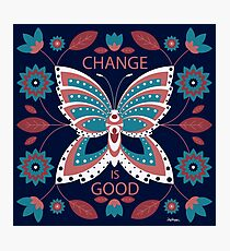 Change is Good - Winter Palette Photographic Print