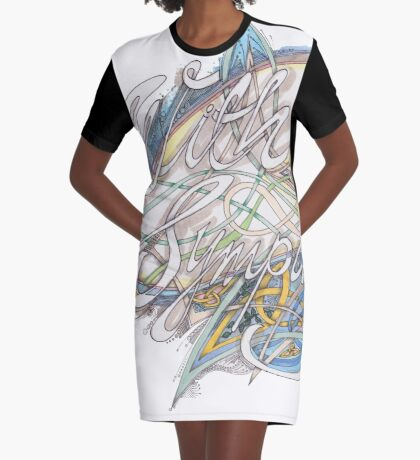 With Sympathy Graphic T-Shirt Dress