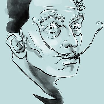 Salvador Dali surrealist potrait 1 by Extreme-Fantasy