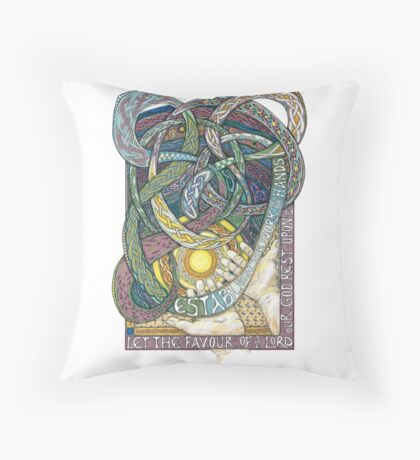 Work of Our Hands Throw Pillow