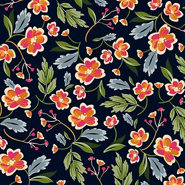 Romantic Flowers Pattern by stylebytara