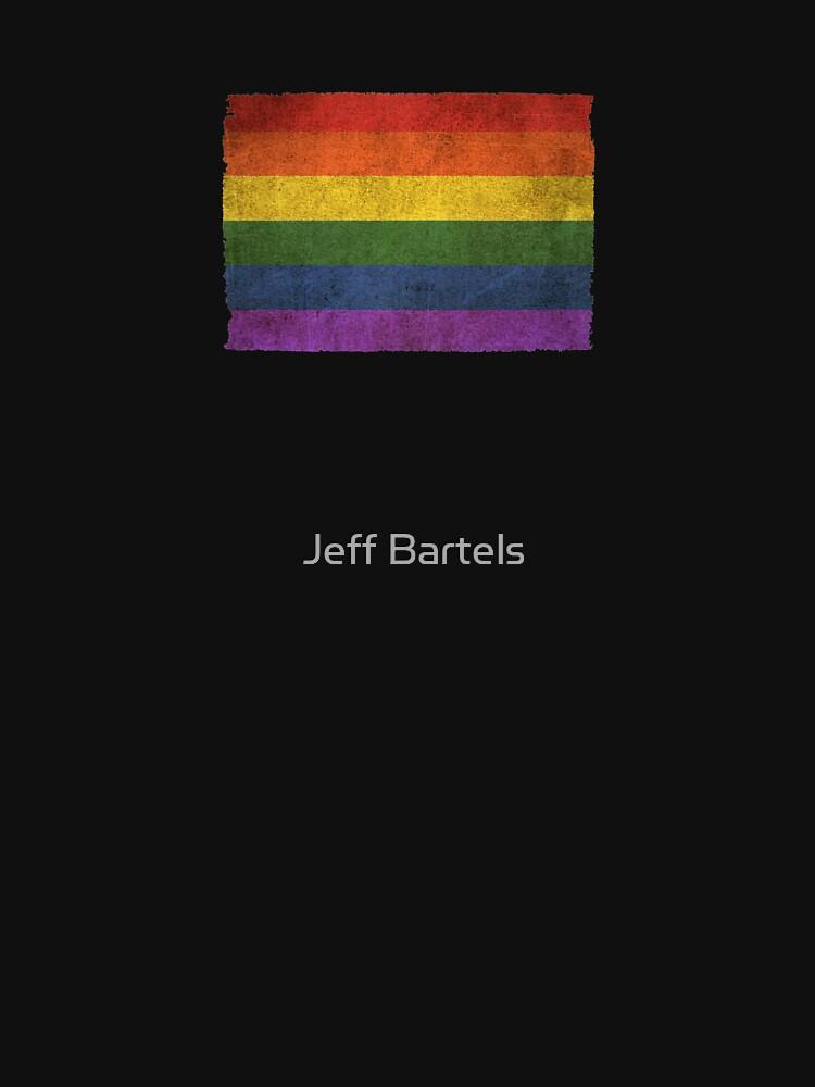 Bandera de arco iris de Orgullo Gay vintage viejo y desgastado desgastado de JeffBartels