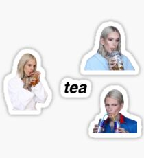 jeffree star tea sticker set Sticker
