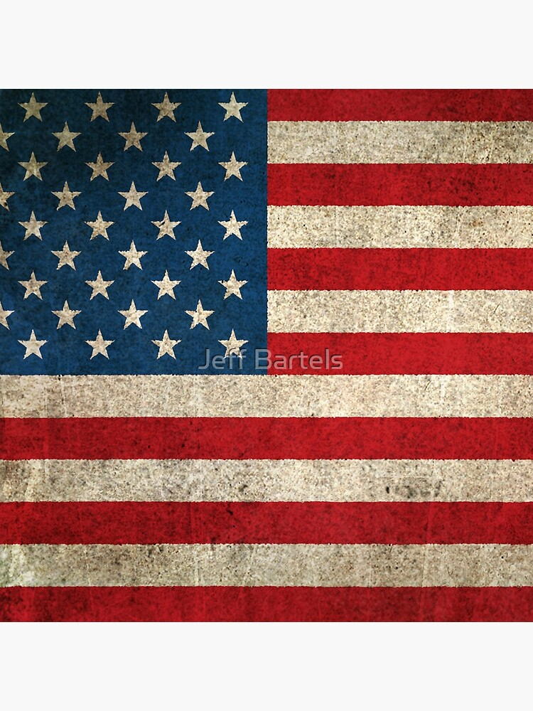 Old and Worn Distressed Vintage Flag of The United States by JeffBartels