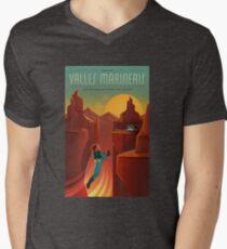 Valles Marineris T-Shirt mit V-Ausschnitt für Männer