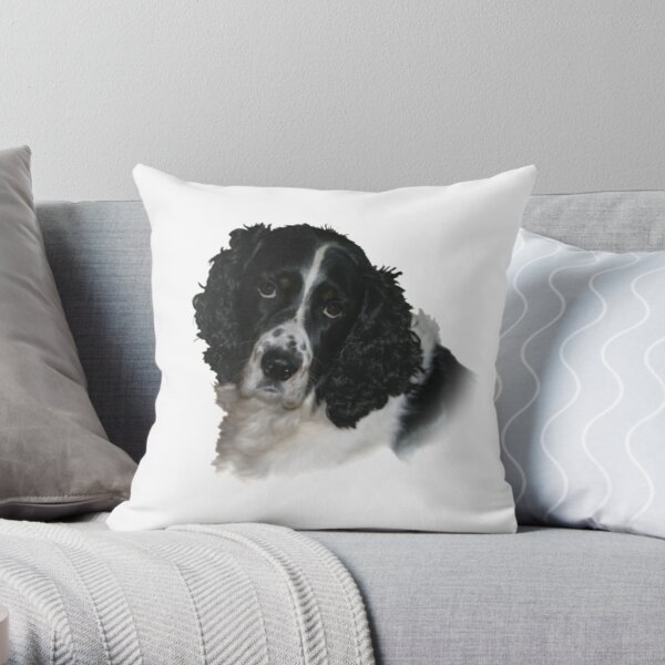 Misko - The English Springer Spaniel Throw Pillow