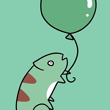Green Balloon Chameleon by SaradaBoru