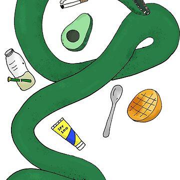 Aussie Bogan Snake in Summer by ezzitheexplorer