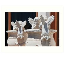 Contemplative Cherubs Art Print