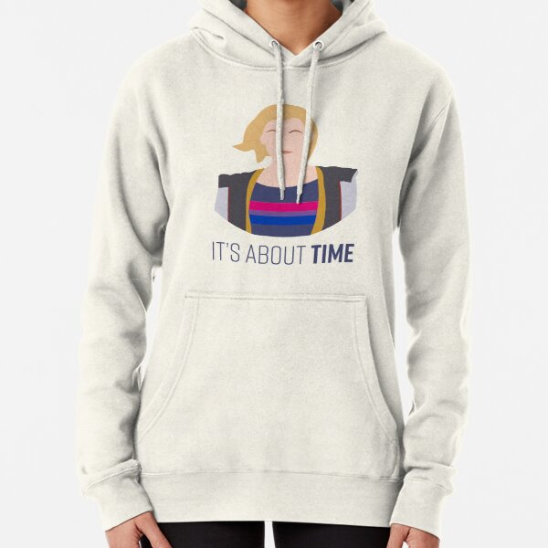 13th Doctor - It's About Time - Bisexual Pride Pullover Hoodie
