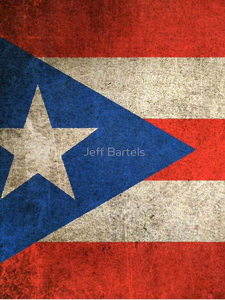 Old and Worn Distressed Vintage Flag of Puerto Rico by JeffBartels
