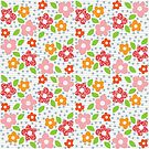 Retro Textured Floral by CDdesignsUK