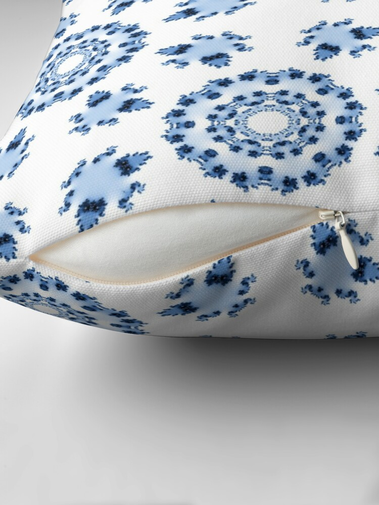 Alternate view of Fractal Azulejo Throw Pillow