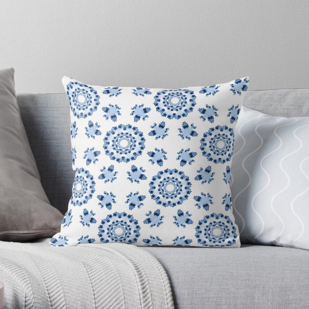Fractal Azulejo Throw Pillow