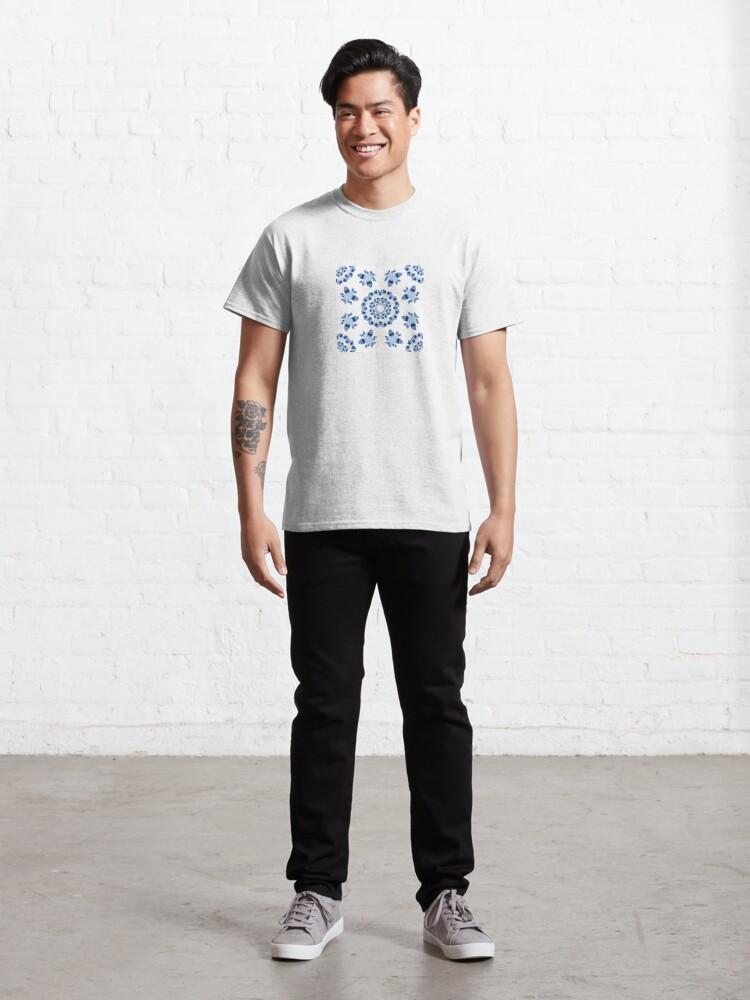 Alternate view of Fractal Azulejo Classic T-Shirt